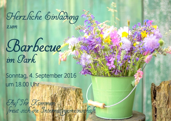 Barbecue im Park am 04.09.2016