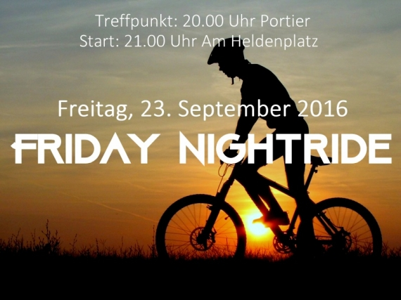 Friday Nightride am 23.09.2016