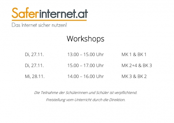 Workshop zum Thema Safer Internet